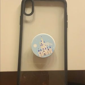 IPHONE XS MAX CLEAR CASE WOTH DISNEY POPSOCKET